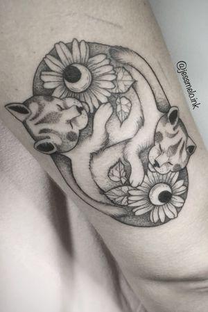 #cats #tattoed #girlswithink #catstattoo