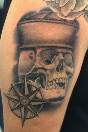 Navy skull