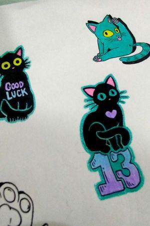 Criações em andamento!!! #cats #blackcattattoo #tattoolovers #tattoolifestyle #tattooerssp #tattoo