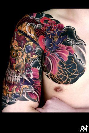 Japanese tattoo Tibet skull #japanesetattoo #irezumi #japanesetattoodesign #tibetskulltattoo #skulltattoodesign #skulltattoo by. Youn.HARU
