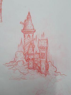 Illustrative castle available.