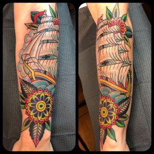 Ship on forearm