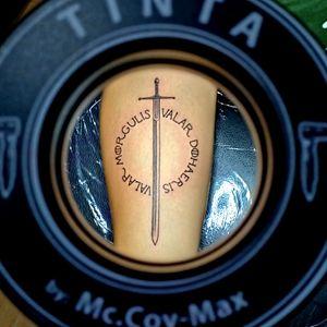 Game of thrones tattoo #got #valarmorgulis #valardohaeris  #sword