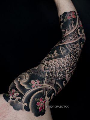 Japanese tattoo NYC. Irezumi. Japanese sleeve tattoo.