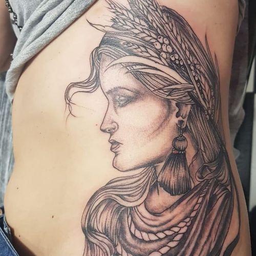 Athena Deusa da sabedoria e da guerra  #tattoorealism #tattoorealistic #tattooartist #tattoosombreada #tattooart #tattooblackandgrey