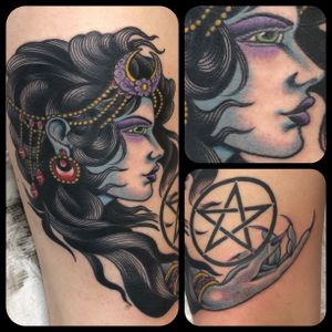 Pentagram was preexisting. Will be adding background to truly tie it all together soon.