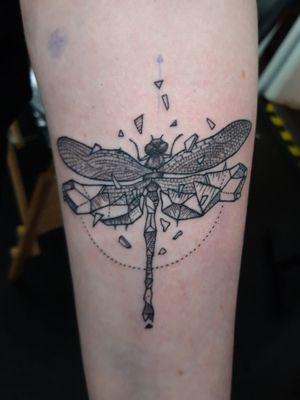 Fineline crystal dragonfly.