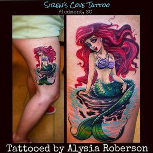 One of my favorites from a few years ago, Disney's The Little Mermaid, Ariel, tattooed by Alysia Roberson at Siren's Cove Tattoo in Piedmont, SC!!! #ariel #arieltattoo #littlemermaid #littlemermaidtattoo #thelittlemermaid #thelittlemermaidtattoo #mermaid #disney #disneytattoo #mermaidtattoo #siren #tattoosiren #sirentattoo #pinupgirltattoo #inkedgirl #inkedfemales #inkedgirls #ink #inked #tattoos #tattooed #tattooedwomen #tattooedwoman #tattooedmen #tattooedman #sctattoo #greenvillesc #downtowngreenville #femaletattooartist #andersonsc #clemsonsc #ladytattooer #redhead #ladytattooist #pinup #pinuptattoo #pinupgirl #nautical #nauticaltattoo #southcarolinatattooartist #sctattooshop #Alysiarobersontattoo #sirenscovetattoo www.facebook.com/sirenscovetattoo www.facebook.com/Alysia.Roberson.Tattoo.Artist