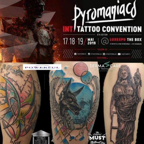 BOOKINGS OPEN FOR PYROMANIACS TATTOO CONVENTION -LUXEMBOURG MAY 17/19th