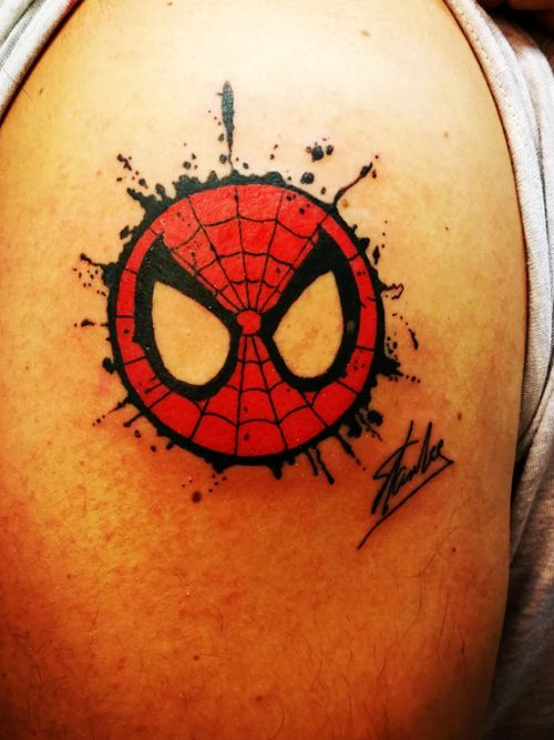 Spider Ink In memory of Stan Lee #Spiderman #stanlee