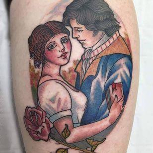 Pride and Prejudice tattoo by Sophie Annison #SophieAnnison #PrideandPrejudice #booktattoos #literarytattoos #booktattoo #literarytattoo #books #book #reading #literature