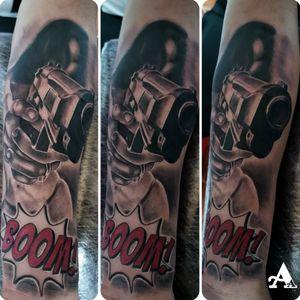 🙃 💉💉💉 @viking_inks @cheyenne_tattooequipment @kwadron @besttattoospainart @dynamiccolor @vegantattoo 💉💉💉 #tattoo #tattoosnob #colorful #cuphead #inked #tattooart #music #ink #sketch #cute #illustration #artwork #flash #tattoooftheday #art #tatuajes #blackandgrey #tattooworkers #sketchtattoo #realism #realismtattoo #handmade #design #realismotattoo #tattoosocial #tattoodo