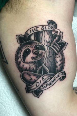 #sloth #slothtattoo #traditional #killeen #killeentattooartist #ironritetattoo