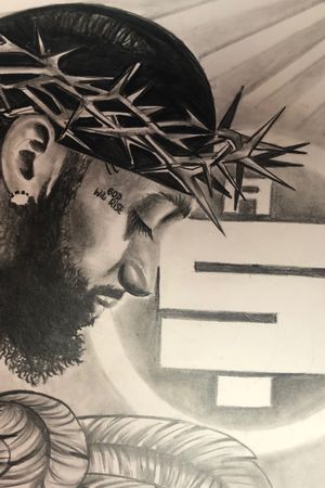 RIP Nipsey Hussle .. I drew this portrait dedicated to the great south central rapper 🙏🏾