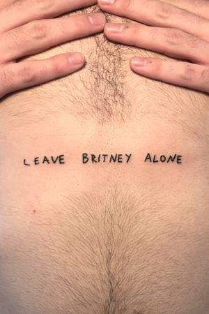 Handpoked Leave britney alone