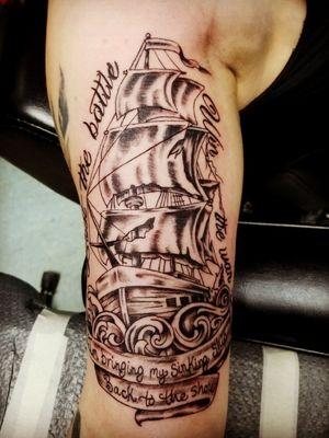 #pirateship #boat #tattoo