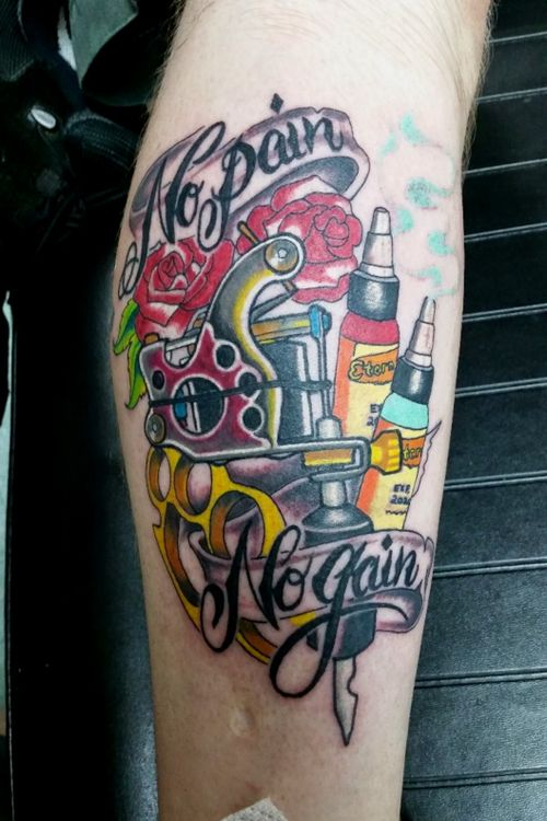 #tattoomachine #nopainnogain #triedntruelondonky #eternalink