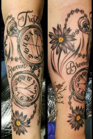 #timepiece #watchtattoo #clocktattoo #clock #triedandtruelondonky #triedntruelondonky