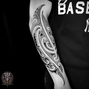 Tribal tattoo by Coen Mitchell #CoenMitchell #neotribaltattoo #tribaltattoo #tribal #blackwork #illustrative #pattern #shapes