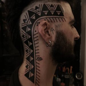 Tribal tattoo by Or Kantor #OrKantor #neotribaltattoo #tribaltattoo #tribal #blackwork #illustrative #pattern #shapes