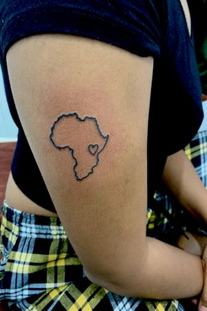 Africa love ❤️❤️ #Africa  #african #love #map #country #continents #girl #girlswithtattoos