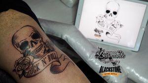 #skull #roses #rocknroll