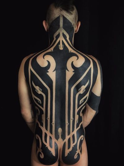 Tribal tattoo by Hanumantra #Hanumantra #neotribaltattoo #tribaltattoo #tribal #blackwork #illustrative #pattern #shapes