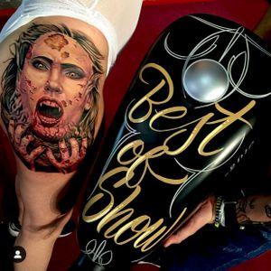 Best of show Gathering of the Giants 2016 tattoo convention in Miami, FL. #intenzepride #tattoounity #miamitattoos #instapic #instatattoo #tattooedgirls #tattooartist # tattoogirl #realistictattoo #tattooideas #artwork #fullcolortattoo #colortattoo #miamitattoos #305tattoos #floridatattoos #nortmiamitattoos