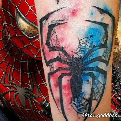 @breathingcanvas #livoniatattooshops #detroittattooartist #detroittattooshop #livoniatattoos #watercolor #watercolortattoos #watercolortattooartist #armtatto #spidertattoo #spiderman #spidermantattoo