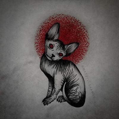 Flash do wzięcia! #trashpolka #trashpolkatattoo #cat #cattattoo #sphynx #sphynxtattoo #demon #demonic #grimm #occult #pagan #wicca #flashtattoo #tattoodesign #tattooapprentice #tattooproject #flashtotake #blackink #redink #wolnywzór #wzórtatuażu #projekt #dowzięcia #tattooer #olsztyn #tatuaż #tatuaz #tattoopoland #polandtattoos #tatuazolsztyn #olsztyntattoo #tattooolsztyn