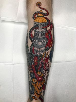 Dragon tattoo by Al Boy #AlBoy #dragontattoos #dragontattoo #dragon #mythicalcreature #myth #legend #magic #fable