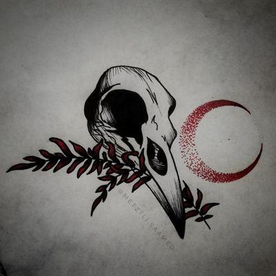 Flash do wzięcia! #trashpolka #trashpolkatattoo #skull #skulltattoo #birdskull #birdskulltattoo #rosemary #rosemarytattoo #moon #moontattoo #dotwork #demon #demonic #grimm #occult #pagan #wicca #flashtattoo #tattoodesign #tattooapprentice #tattooproject #flashtotake #blackink #redink #wolnywzór #wzórtatuażu #projekt #dowzięcia #tattooer #olsztyn #tatuaż #tatuaz #tattoopoland #polandtattoos #tatuazolsztyn #olsztyntattoo #tattooolsztyn