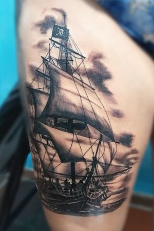 Navio pirata desenvolvido para a cliente em um projeto de fechamento de coxa que esta em andamento por aqui.