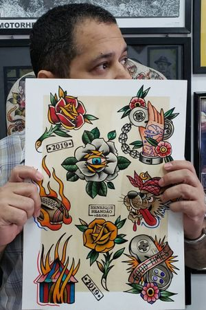 #tattoo #tatuagem #flashworkers #skull #skulltattoo #oldschool #skinart #tatovering #tatowieerung #tradilatino #ecoline #americantattoo #painting #braziliantattooartist #traditionaltattooflash #traditionalpainting #traditionaltattoo #tatuaggio #ecoline #boldtattooart #tatoeeren #tattooflashcollective #electricink#boldandbright #tatouage #traditional #rawtrad #tatuagemtradicionalbr