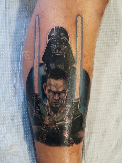Star Killer and Darth Vader  from Star Wars