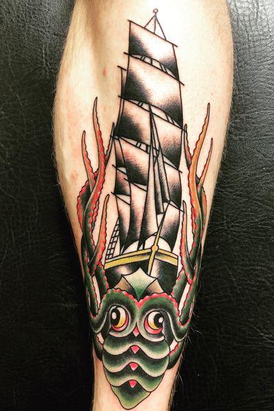 #kraken #ship #forevertruetattoo