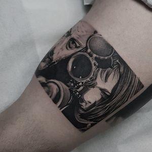 The Professional tattoo by Sulejman Fani #SulejmanFani #tattooartist #besttattoos #awesometattoos #tattoosformen #tattoosforwomen #tattooidea #TheProfessional #movietattoo #Leon #natalieportman #gun