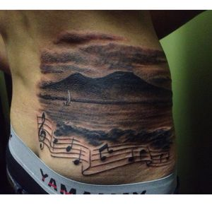 #revynove #realistictattoo #landscape #vesuvio #golfonapoli #blackandgrey #sea #seaside #realistic #effect #music #canzone #song #melody #naples #golfo #napoli #water #landscape #revy #realism #realistic