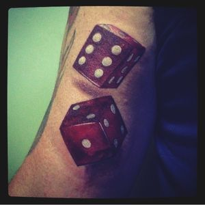 #dice #red #realistictattoo #reddices #dices #game #player #playing #life #tryagain #realisticeffect #coloredtattoo 🎲Try again #revy #realism #realistic #illustration