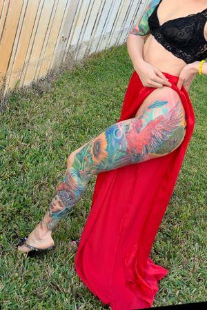 Full color leg sleeve #intenzepride #tattoounity #miamitattoos #instapic #instatattoo #tattooedgirls #tattooartist # tattoogirl #realistictattoo #tattooideas #artwork #fullcolortattoo #colortattoo #miamitattoos #305tattoos #floridatattoos #nortmiamitattoos