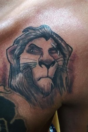 @breathingcanvas #livoniatattooshops #detroittattooartist #livoniatattoo #detroittattooshop #livoniatattoos #chesttattoo #scar #scartattoo #lionking #lionkingtattoo