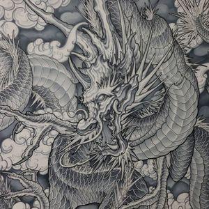 The Cloud Serpent #dragontattoo #tattoo #dragon #tattoos #art #ink #japanesetattoo #drawing #tattooartist #tattooart #inked #artist #orientaltattoo #blackwork #dragons #dragonball #tattooed #tattooer #tattooing #blackandgreytattoo #tattoolife #illustration #dragonart #traditionaltattoo #bodyart #tattooideas #dragonballz #sketch #dragonslayer #copicmarker