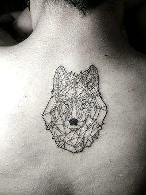 #wolf #geometric #wildanimals #linework #owndesign #lobo