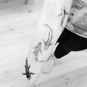 Fish tattoo by Max aka thommesenink #thommesenink #MaxThommesen #fishtattoo #fishtattoos #fish #seacreature #oceanlife #animal #ocean #water #pisces #nature #illustrative #fineline #linework