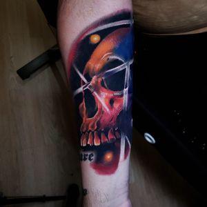 #color #tattoo #skull #colorrealismtattoo #abstracttattoo