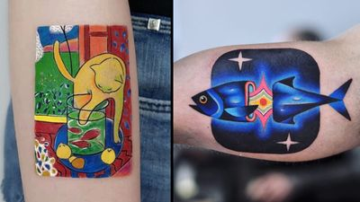 Fish tattoo on the left by Hakan Adik and fish tattoo on the right by David Cote #DavidCote #DavidPeyote #HakanAdik #fishtattoo #fishtattoos #fish #seacreature #oceanlife #animal #ocean #water #pisces #nature