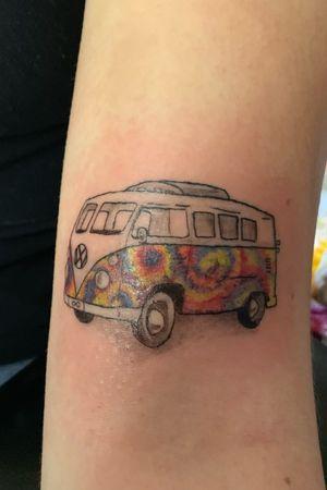 #tiedye #volkswagen #tattooartist
