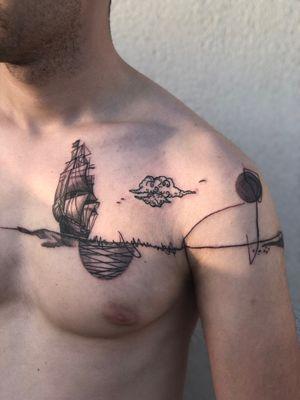 VIP #tattoo #ink #tattoos #art #inked #freehand #tattooed #realistictattoo #chesttattoo #colourtattoo  #tattooart #artist #inkeeze #follow #photography #fashion #mithology #photooftheday #drawing #stencilstuff #model #sleevetattoo #geometric #picoftheday #style #tattoolife #blackwork #sculpturetattoo #black #shiptattoo