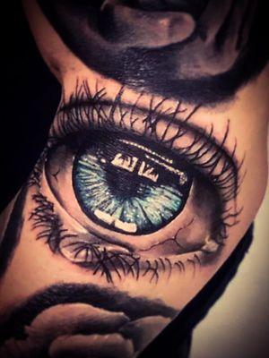 #realism #balckandgrey #color #eye #tears #sad #cool #tattooedguy # tattooartist #beautiful #amazing #iris #blue