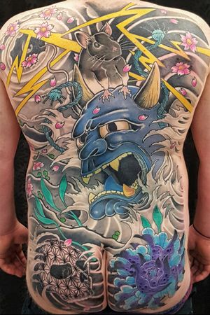 #australiantattoo #melbournetattoo #tattoomelbourne #australiantattooistsguild #tattoo #tattoos #melbournetattooartist #docstattooz #funinthesun #customtattoos #melbournetattooculture #flkeys #floridakeys #floridatattooartist #keywest #japaneseinspired #japanesetattoo #japaneseinfluence #irezumitattoo #hannyamask #yearoftherat #wabori #japanesehannya